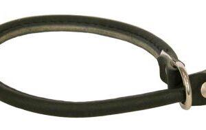 Alac Läderhalsband stryp Svart M/L 55cm