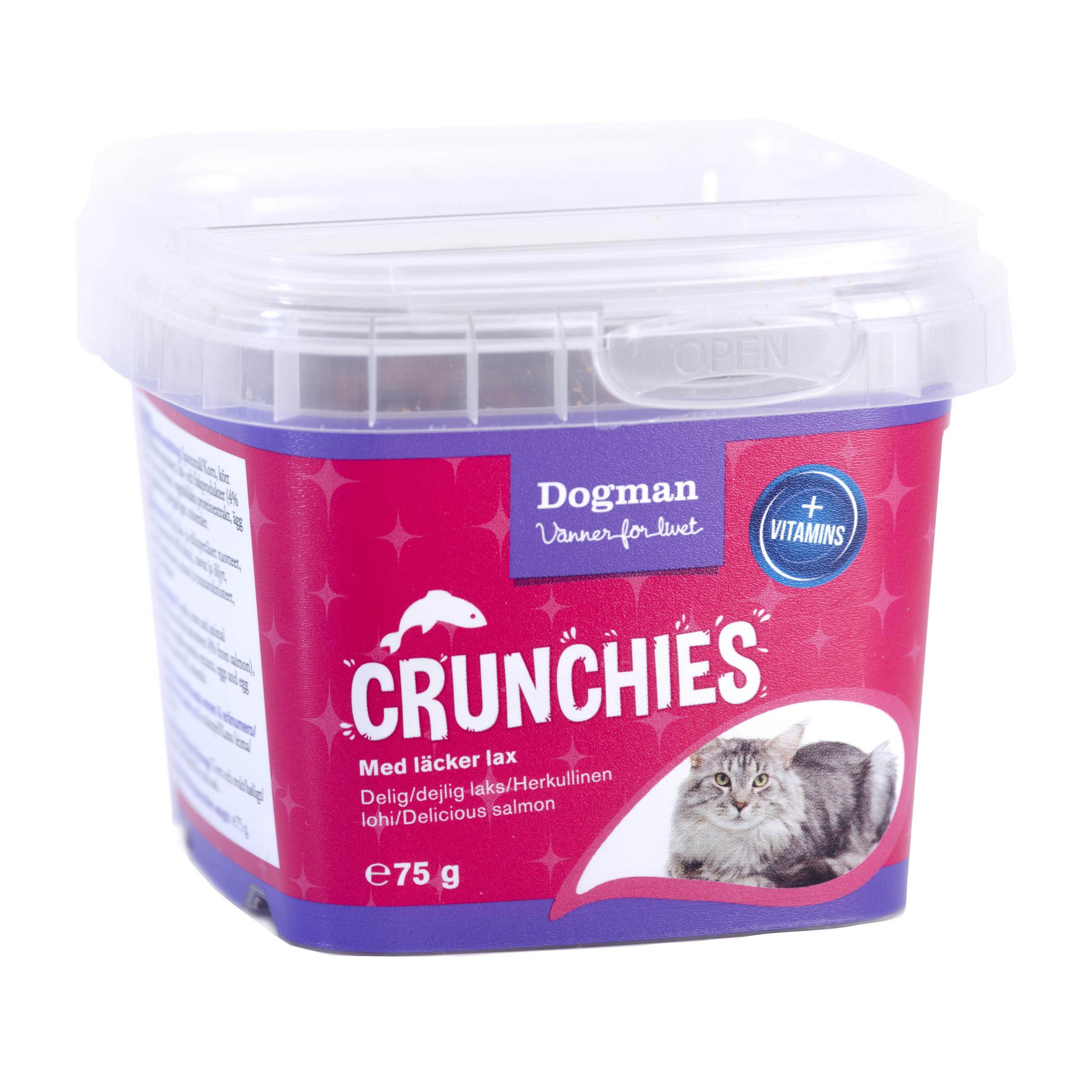 Dogman Crunchies lax 75g