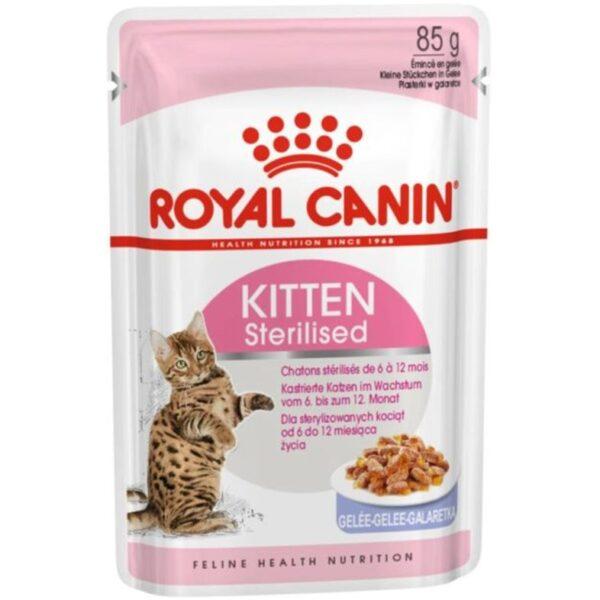 Royal Canin Kitten Sterilised Jelly Wet 12x85g